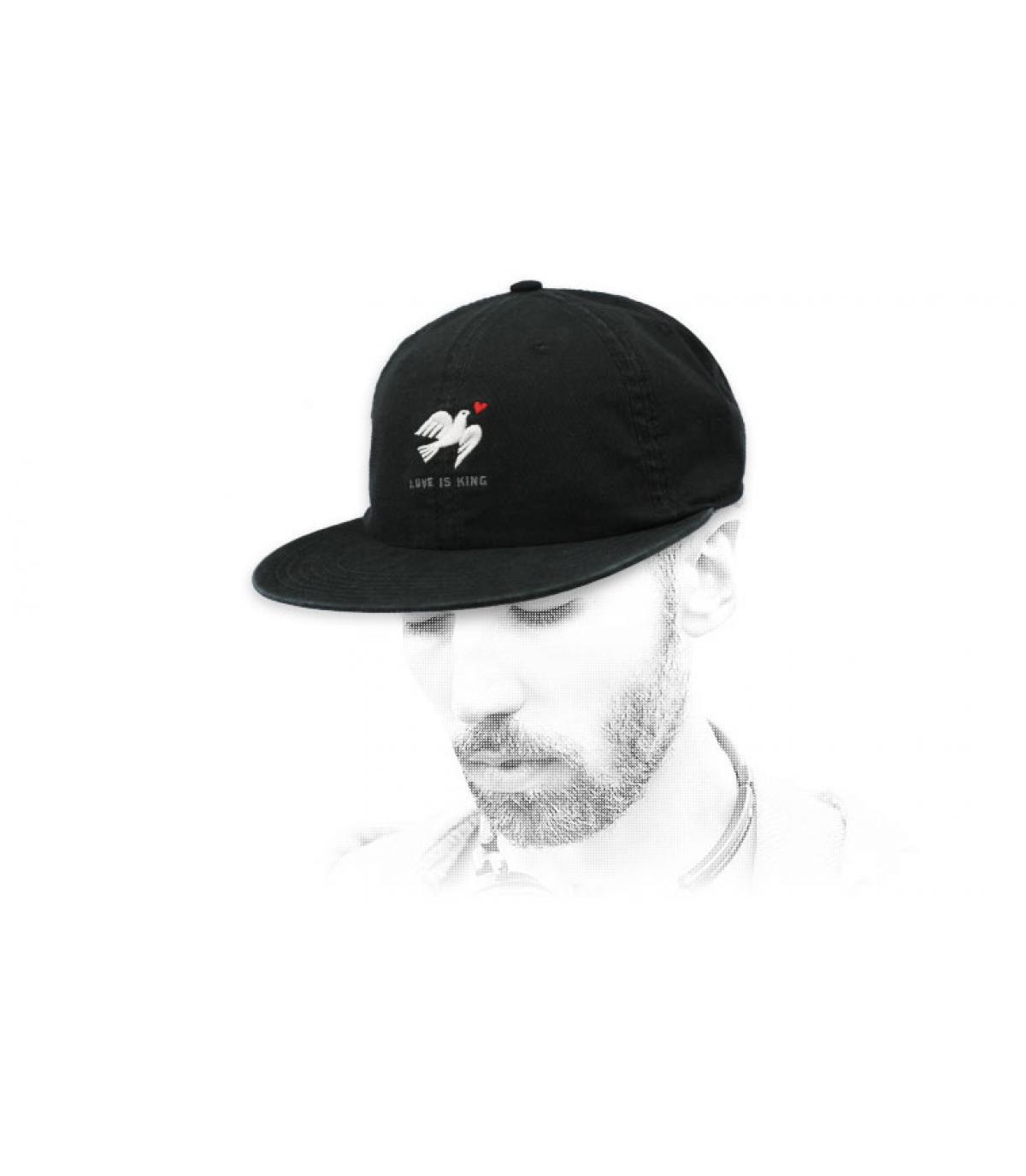gorra paloma negro Wemoto