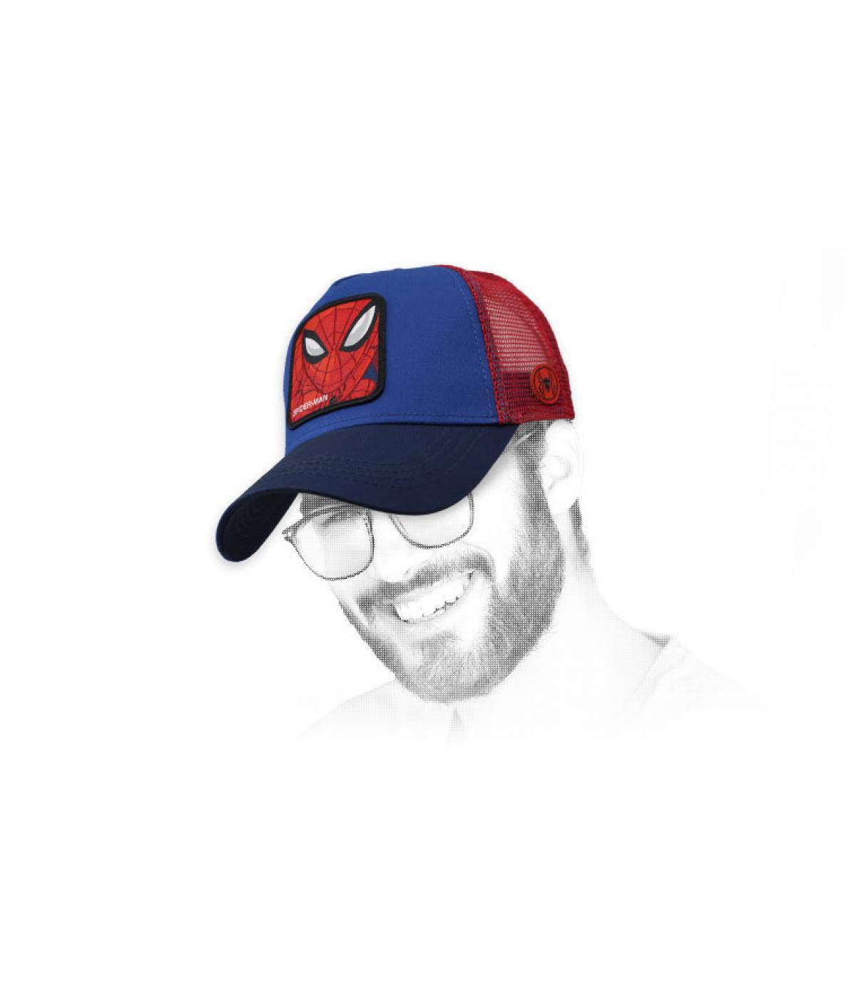 trucker Spiderman azul rojo