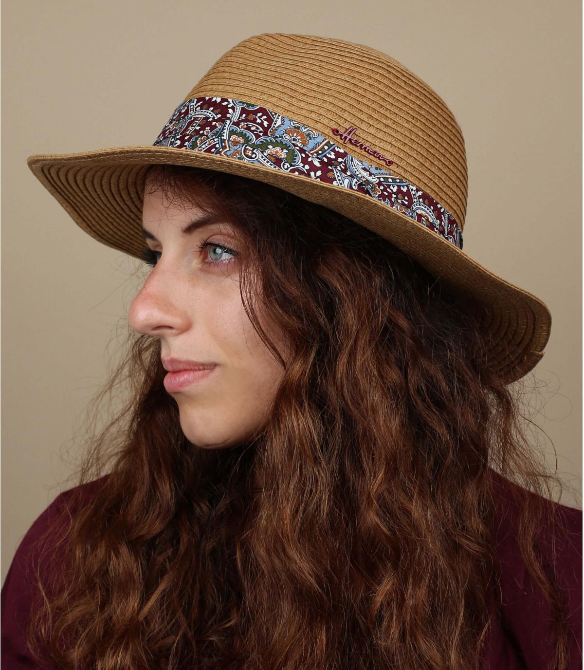 sombrero paja pañuelo