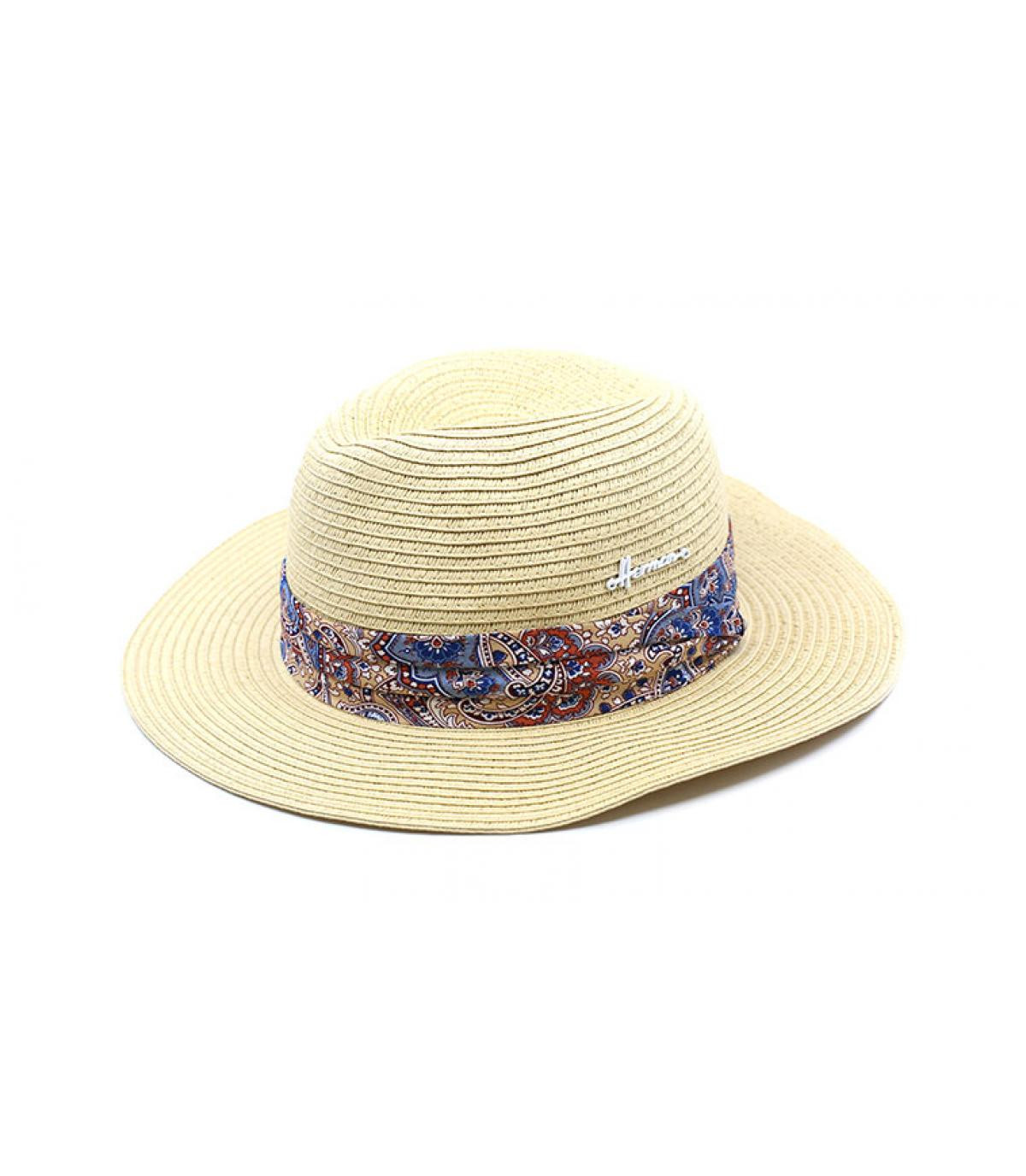 sombrero paja blanco