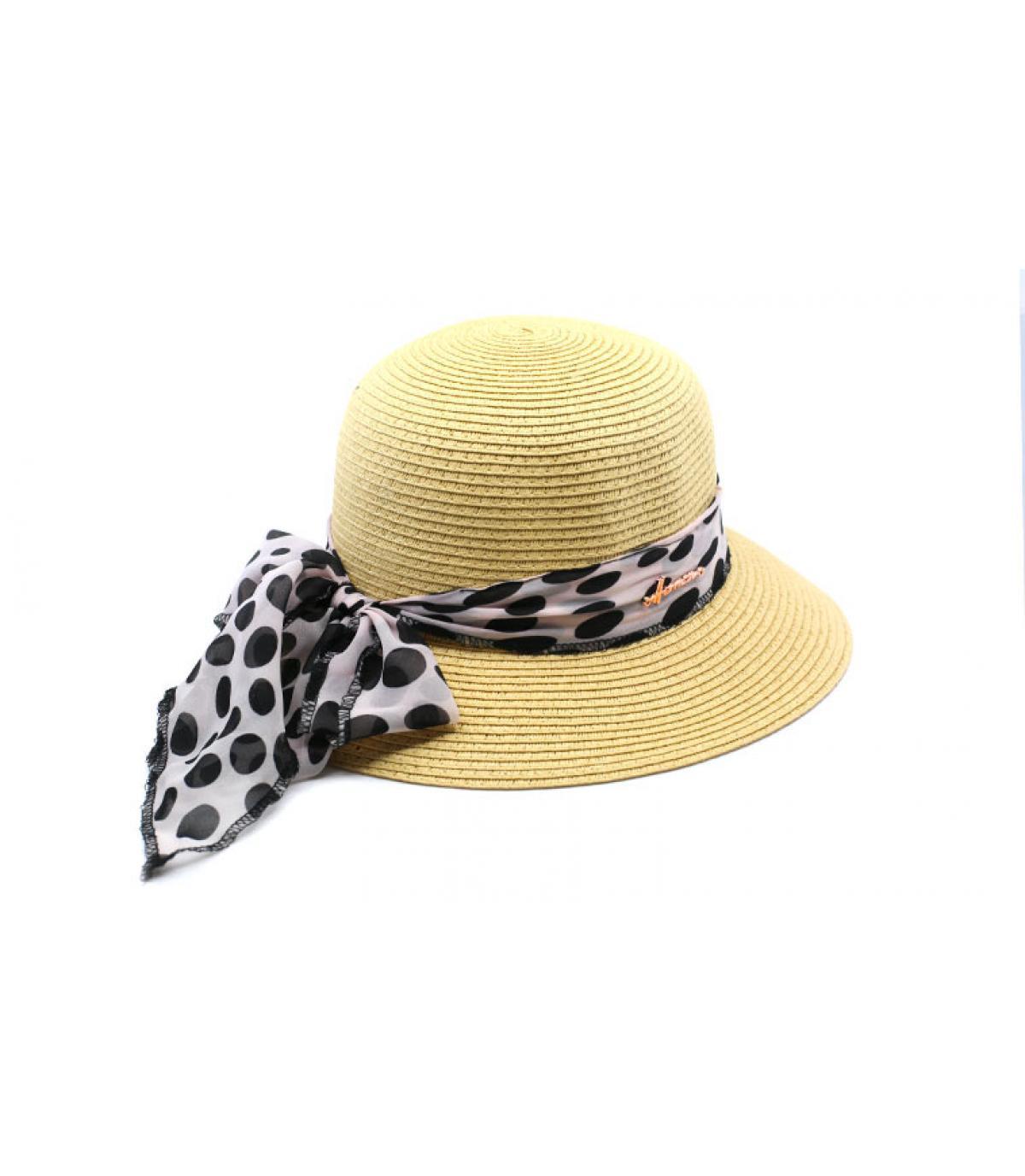 sombrero cloche paja pañuelo