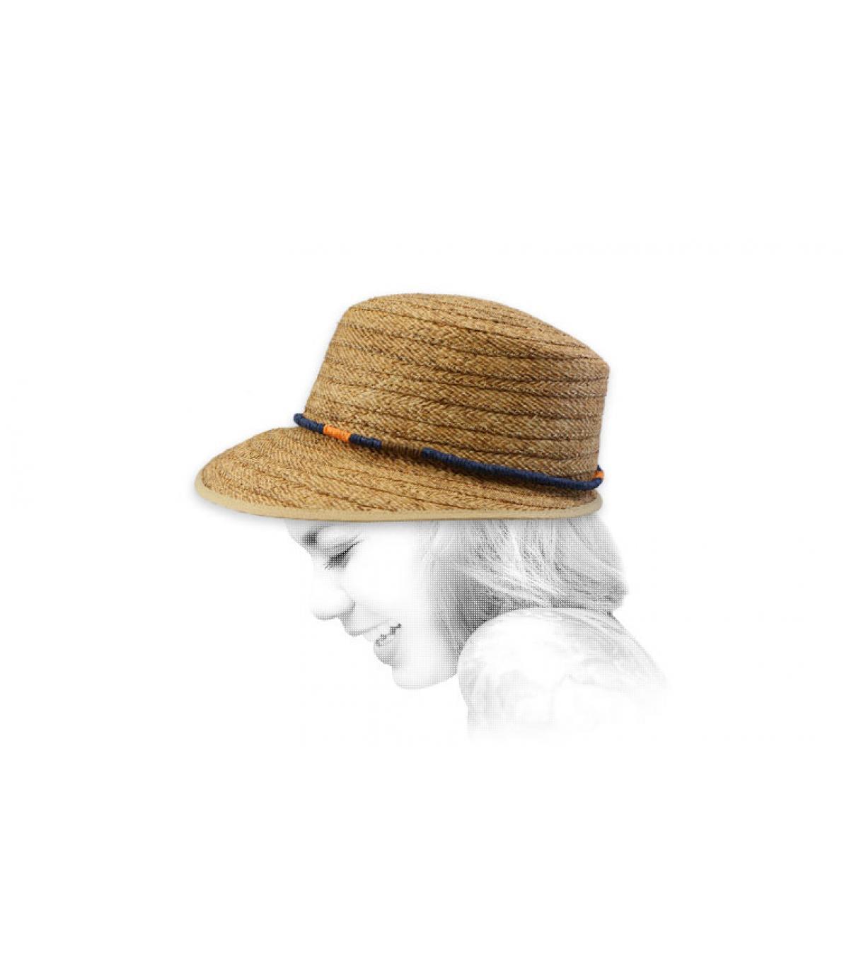 sombrero visera paja