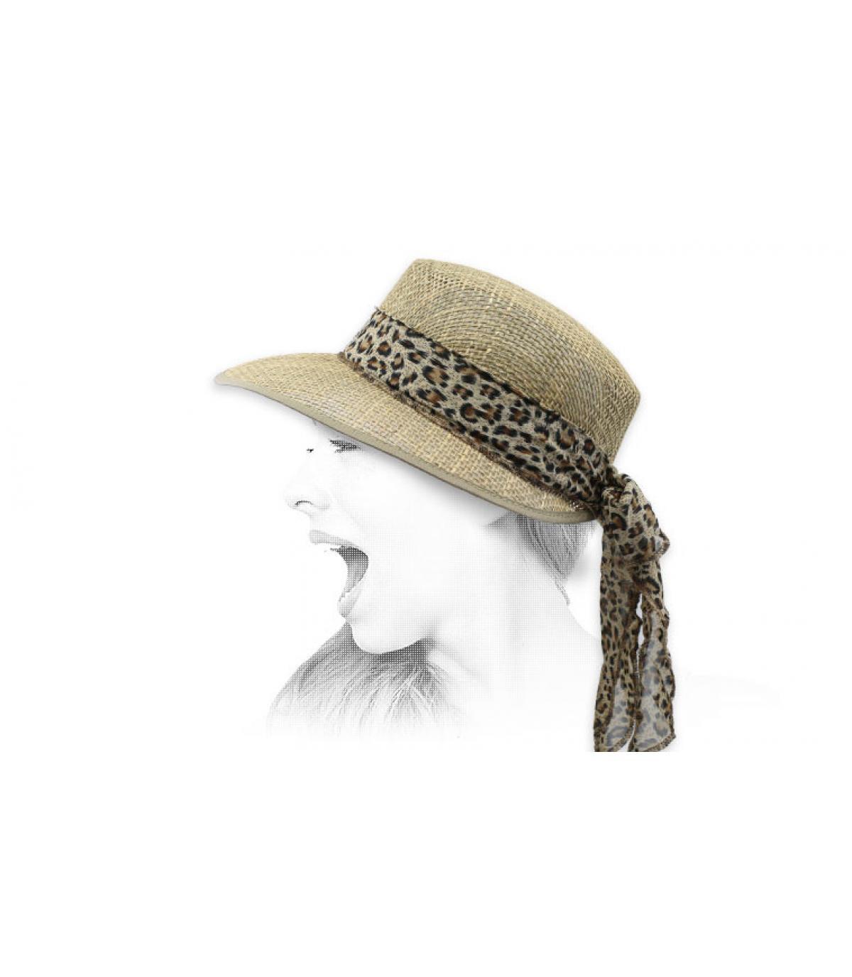 sombrero visera sisal