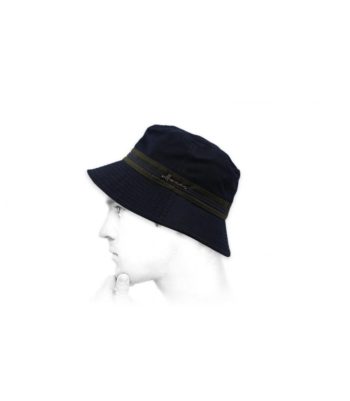 gorro pescador azul algodón