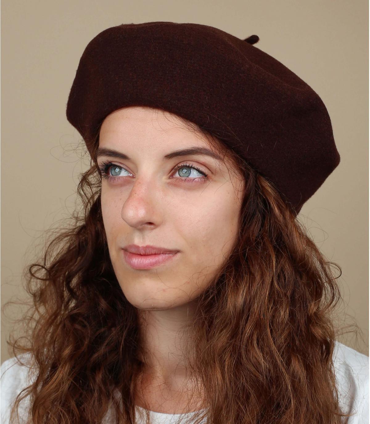 Gorro mujer marrón