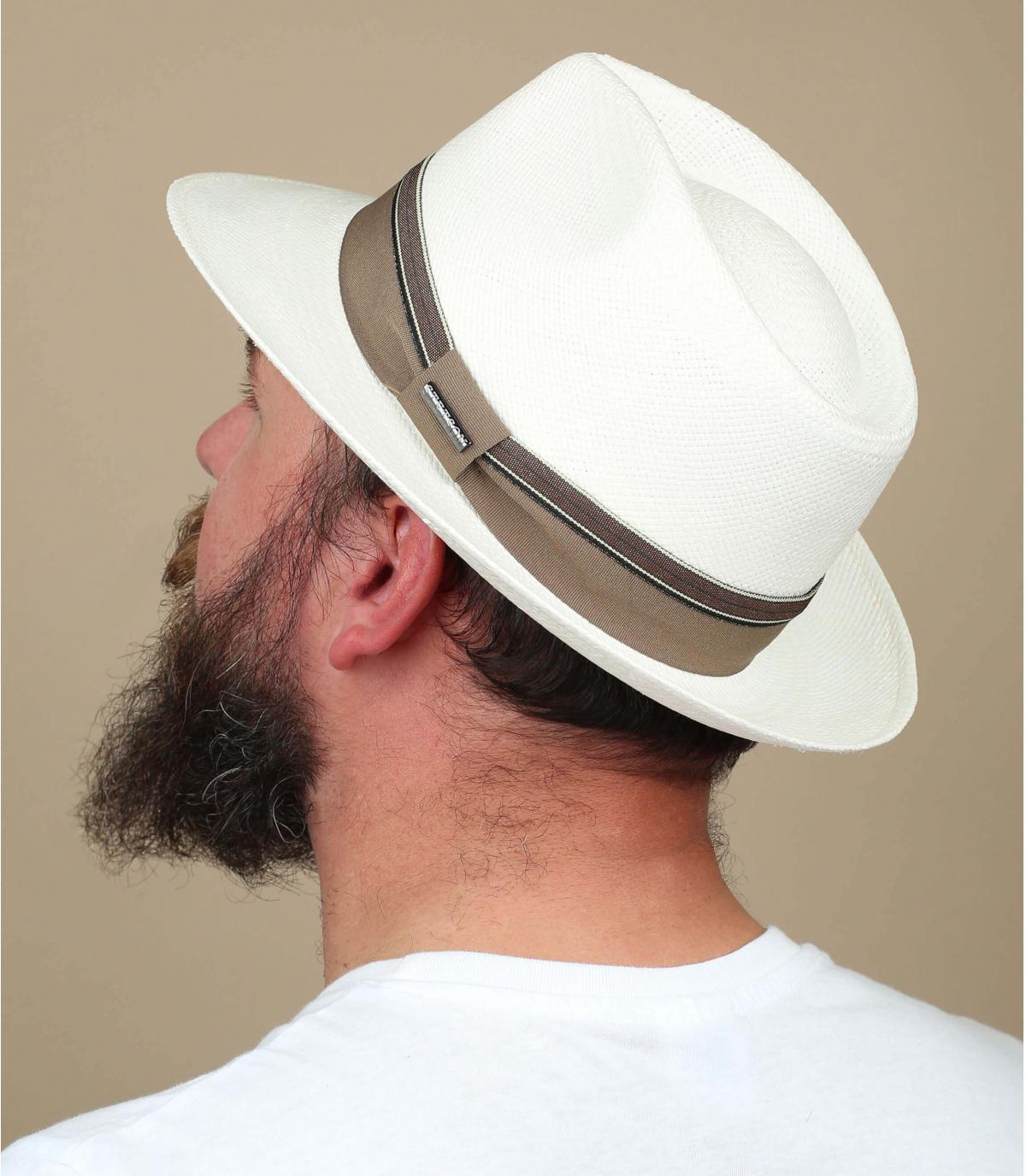 sombrero panama blanco