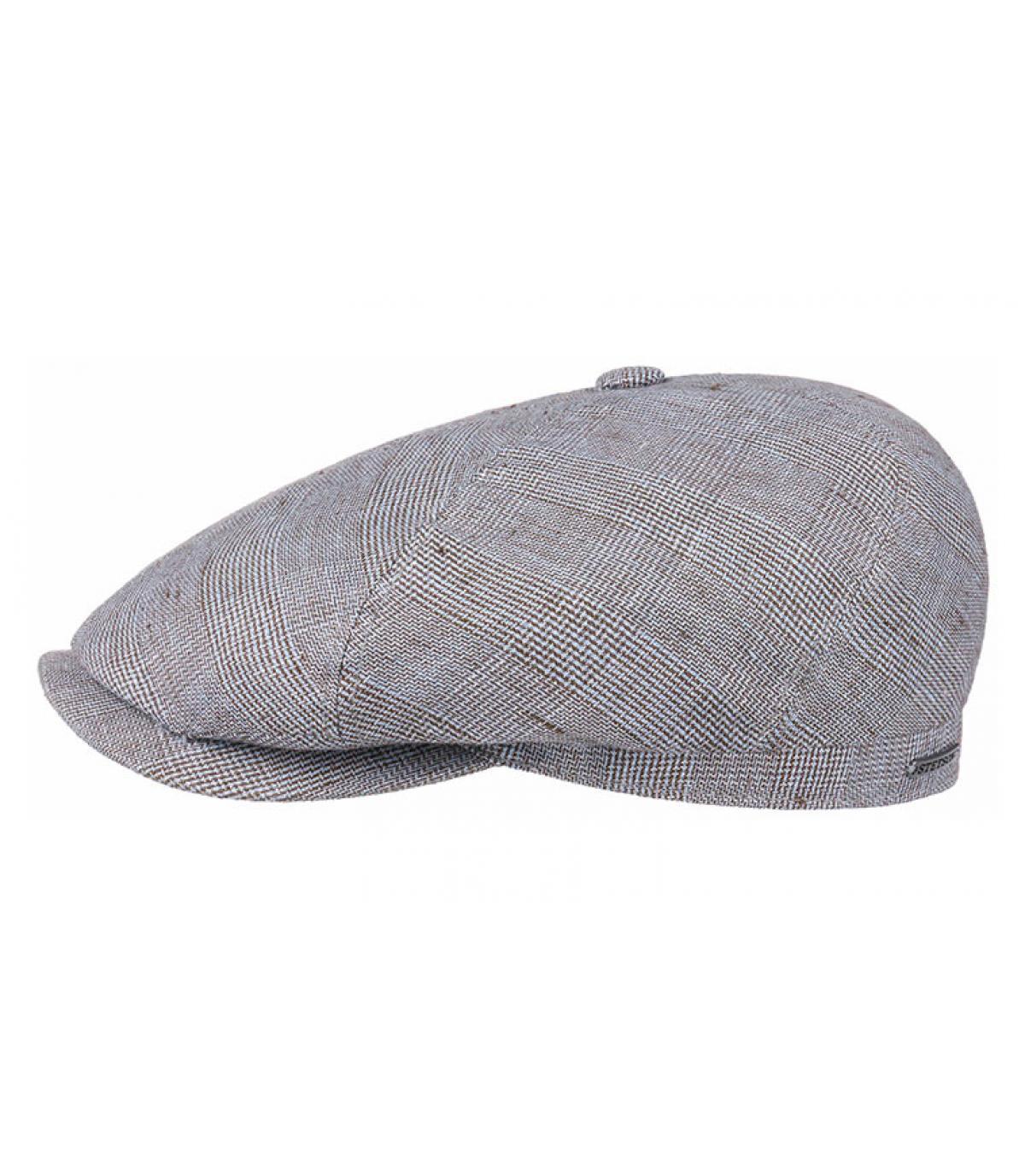 gorra lino azul cuadros