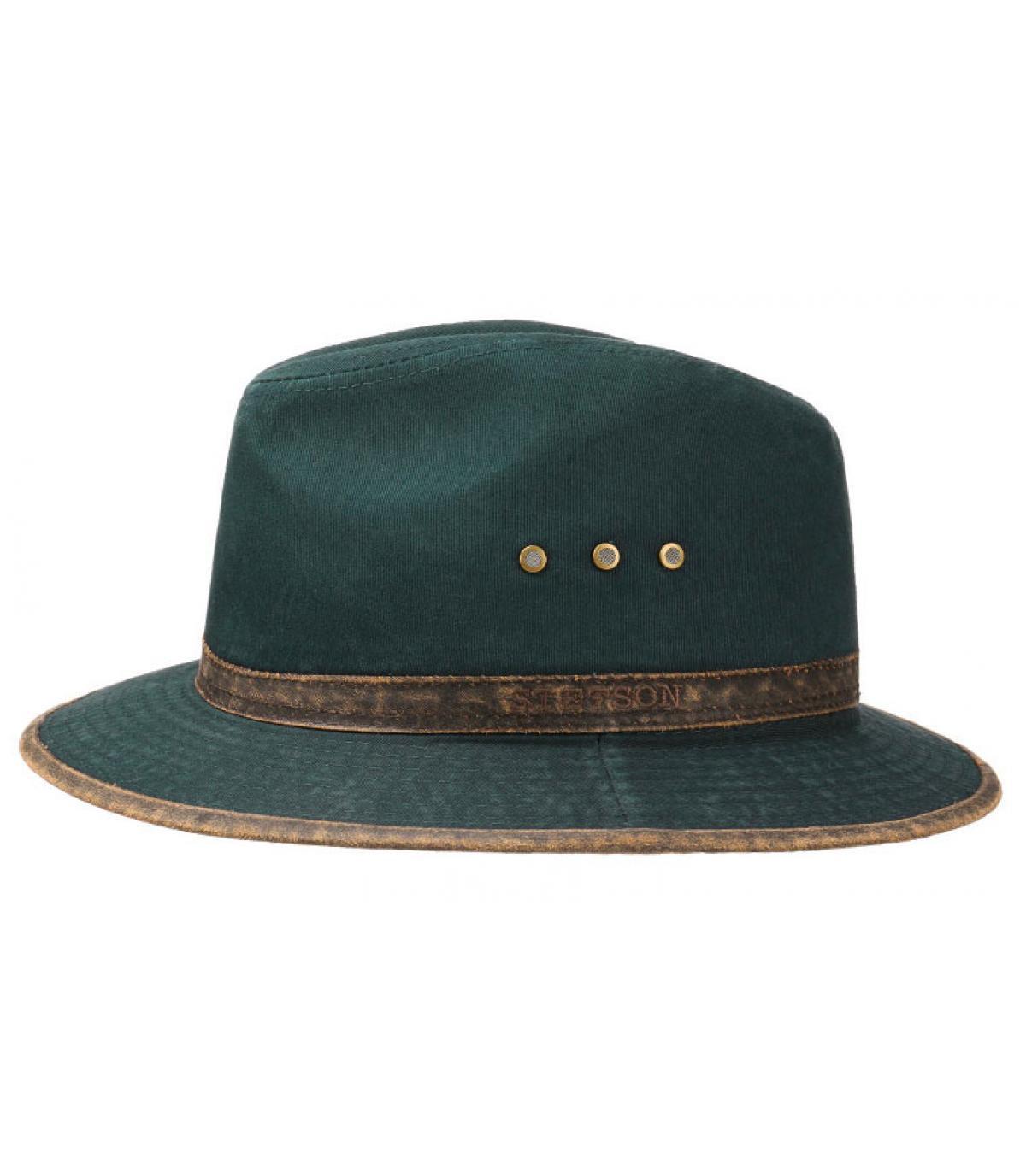 sombrero viaje algodón azul
