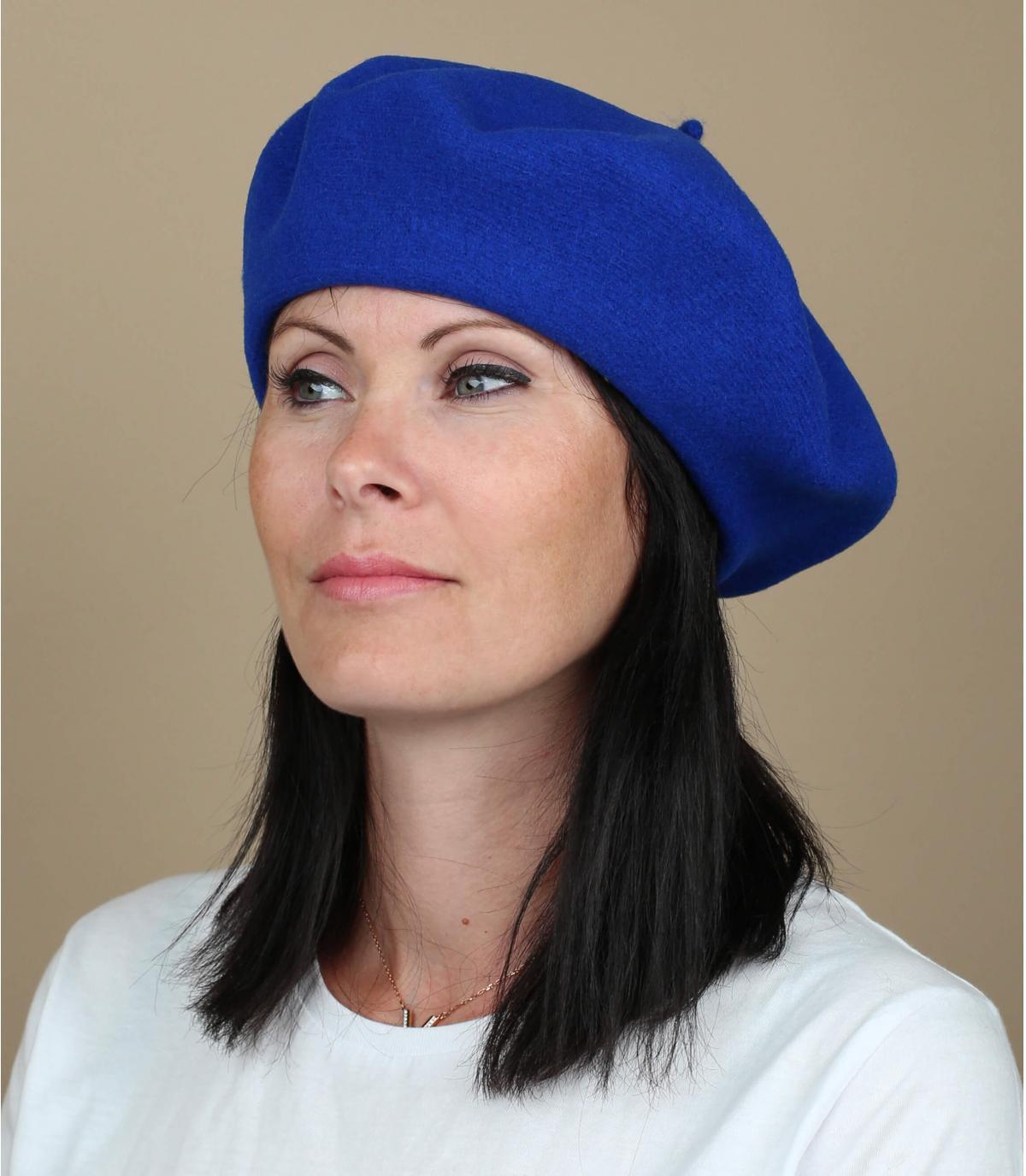 Gorro mujer azul