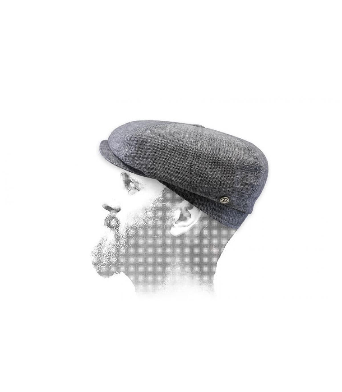 gorra repartidor lino gris