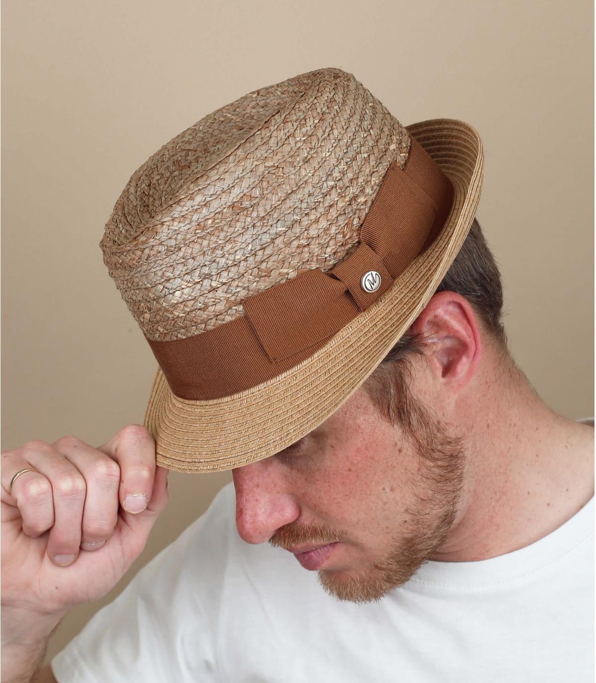 trilby marrón paja