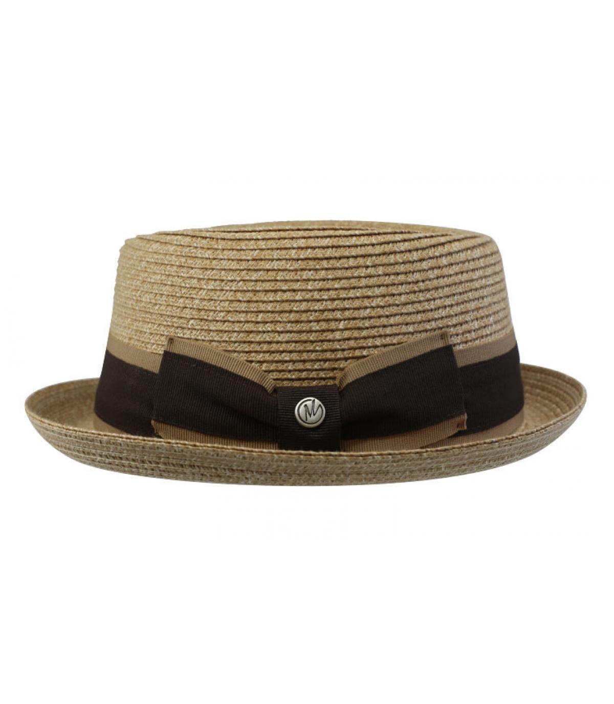 sombrero paja beis cinta