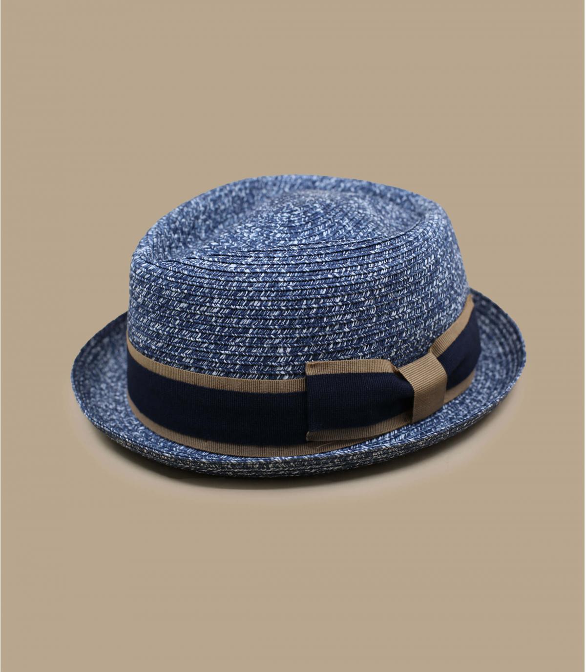 sombrero paja azul cinta