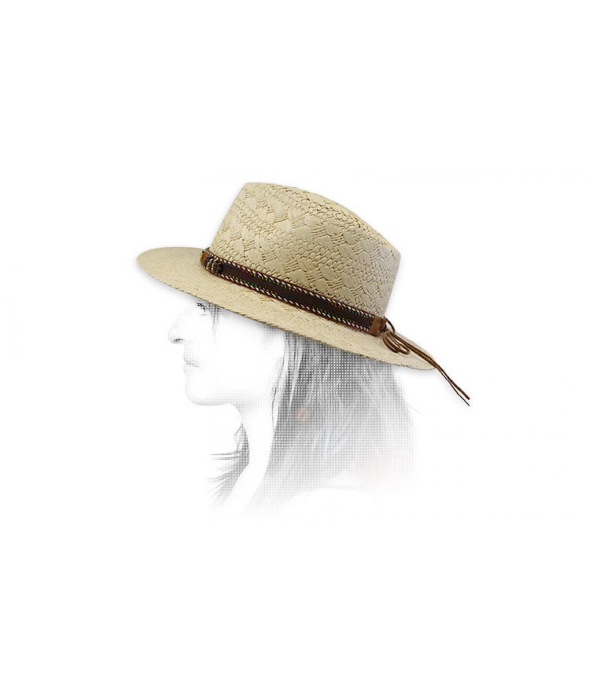 sombrero paja cinta