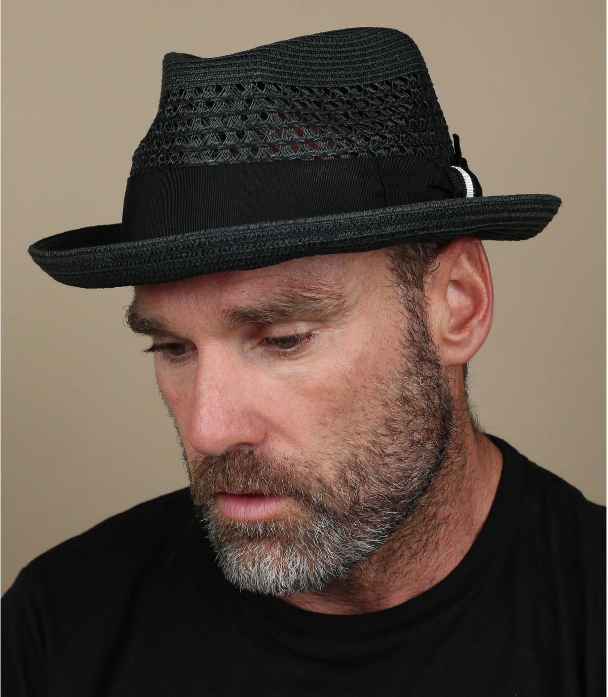 sombrero paja negro Bailey