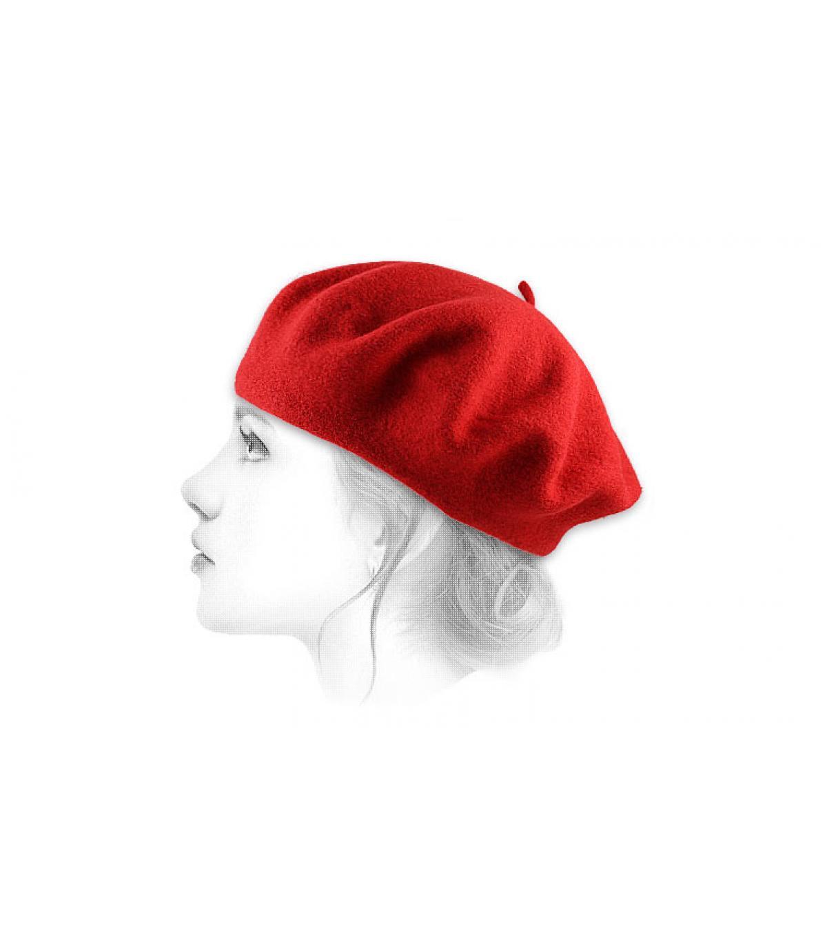 Gorro mujer rojo