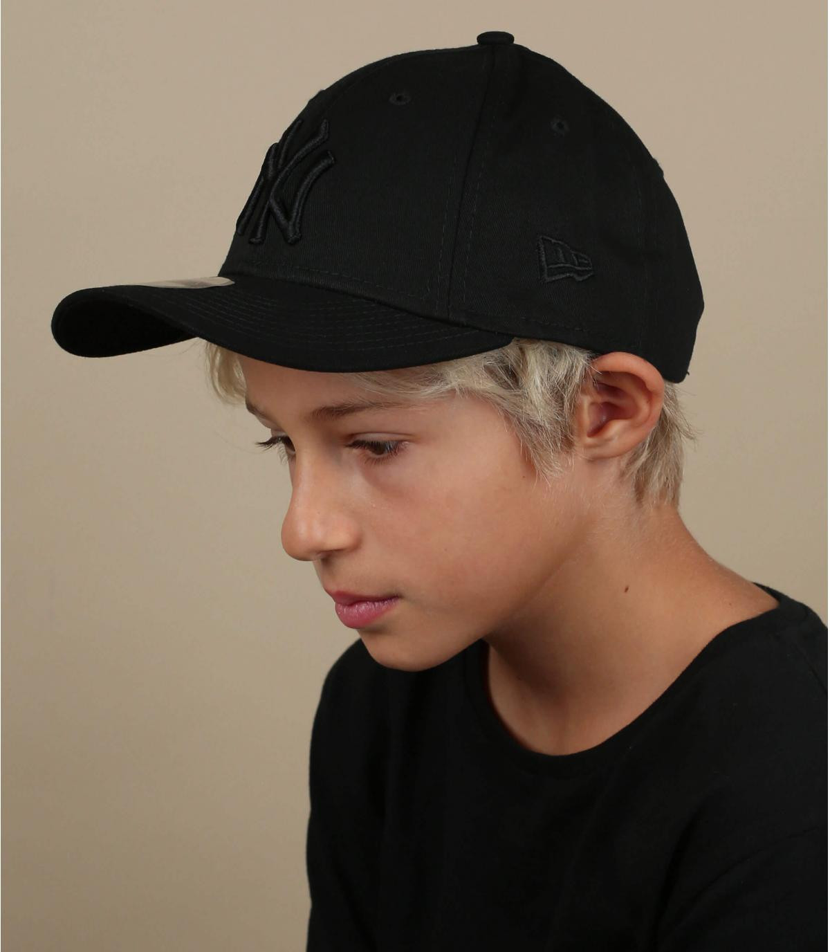 gorra NY niño negro