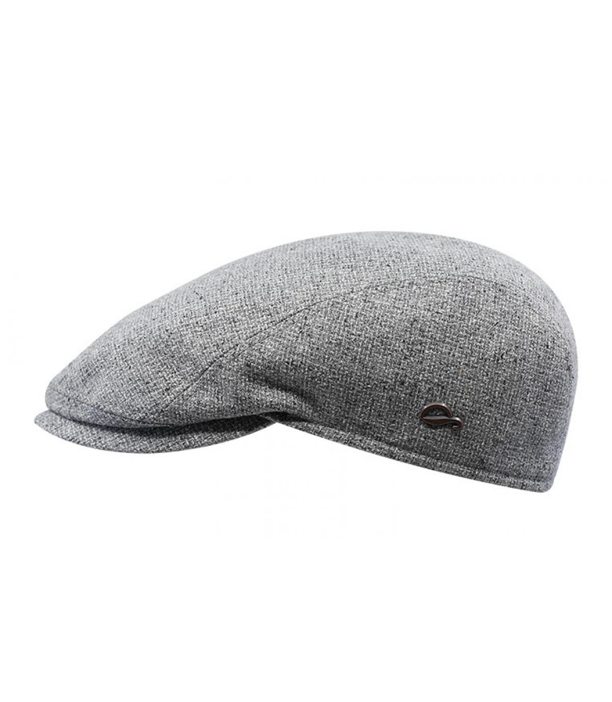 gorra gris seda
