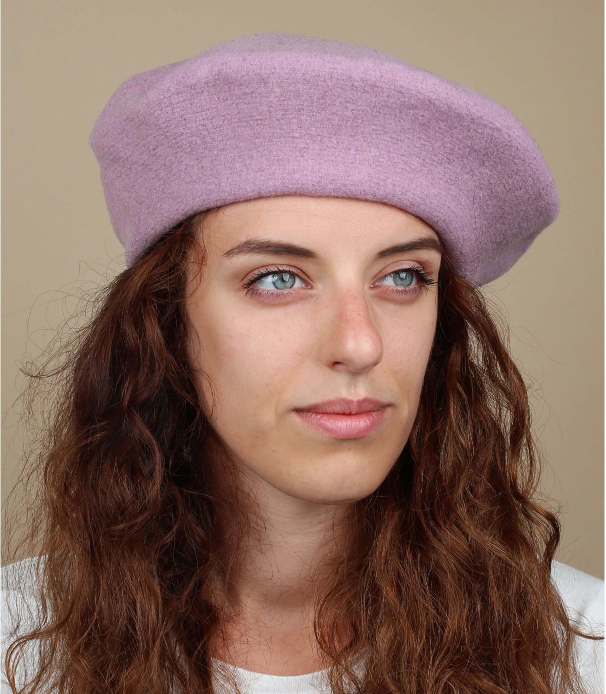 Gorro mujer violeta