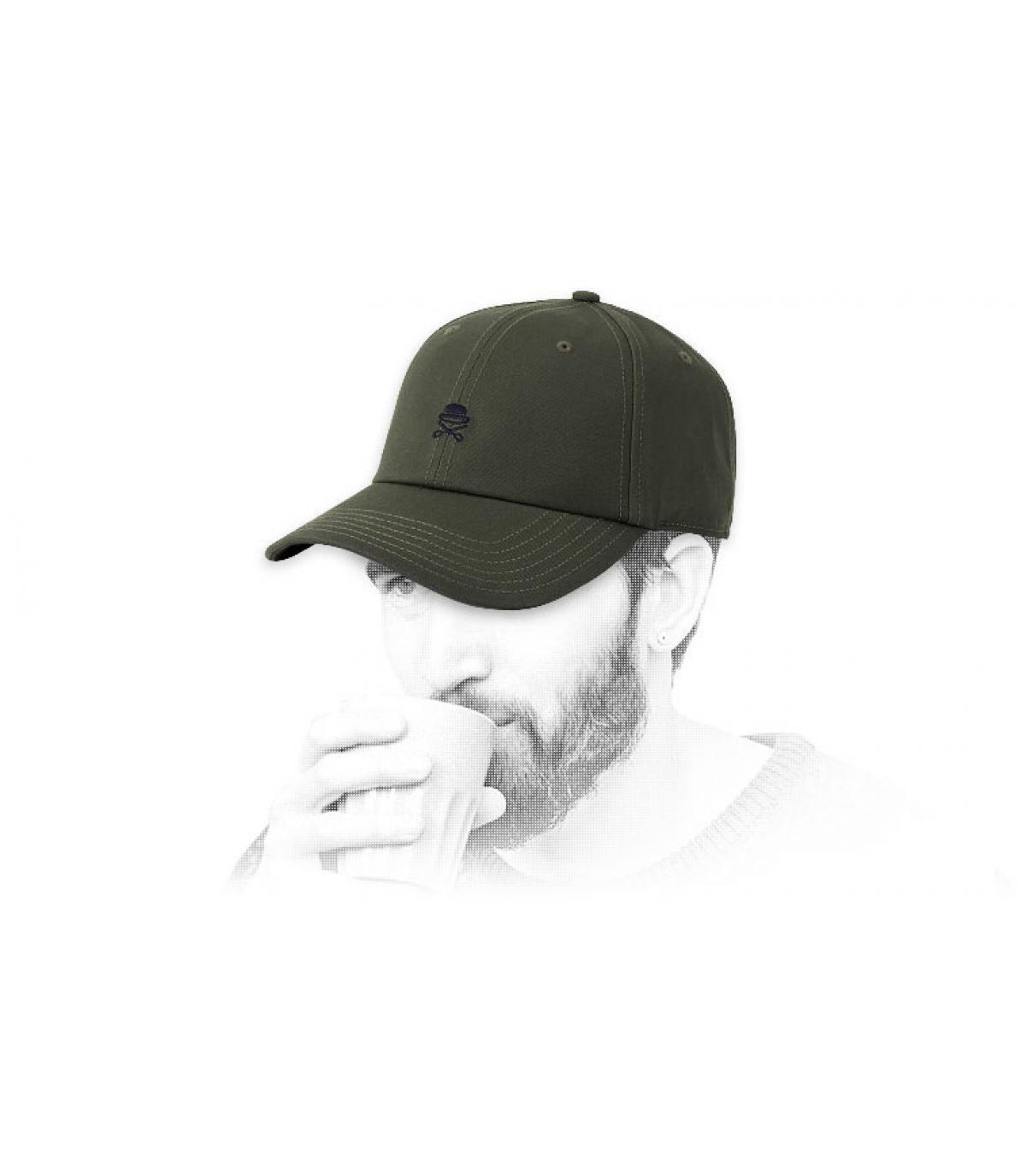 gorra logo Cayler verde