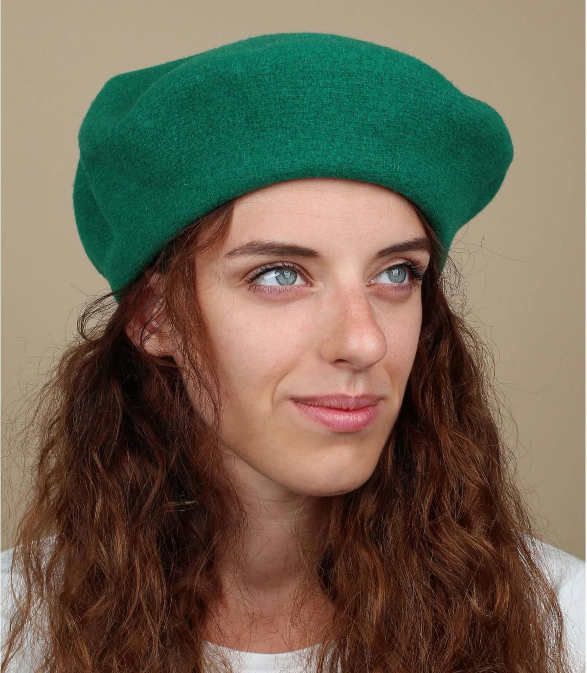 Gorro mujer verde