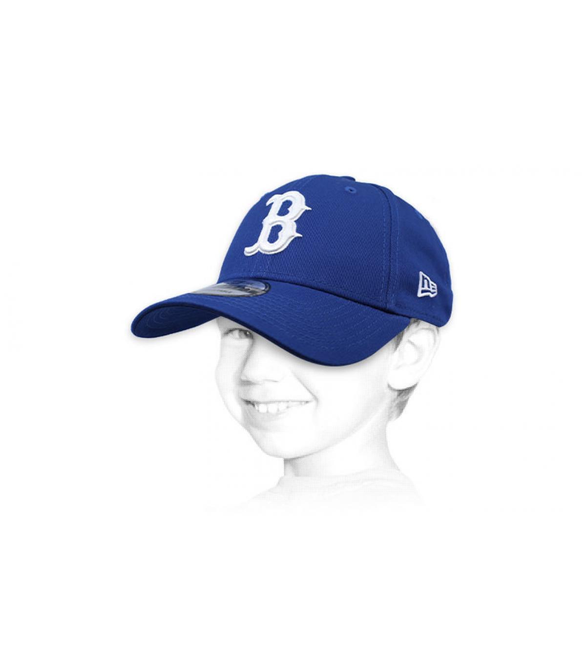gorra niño B azul