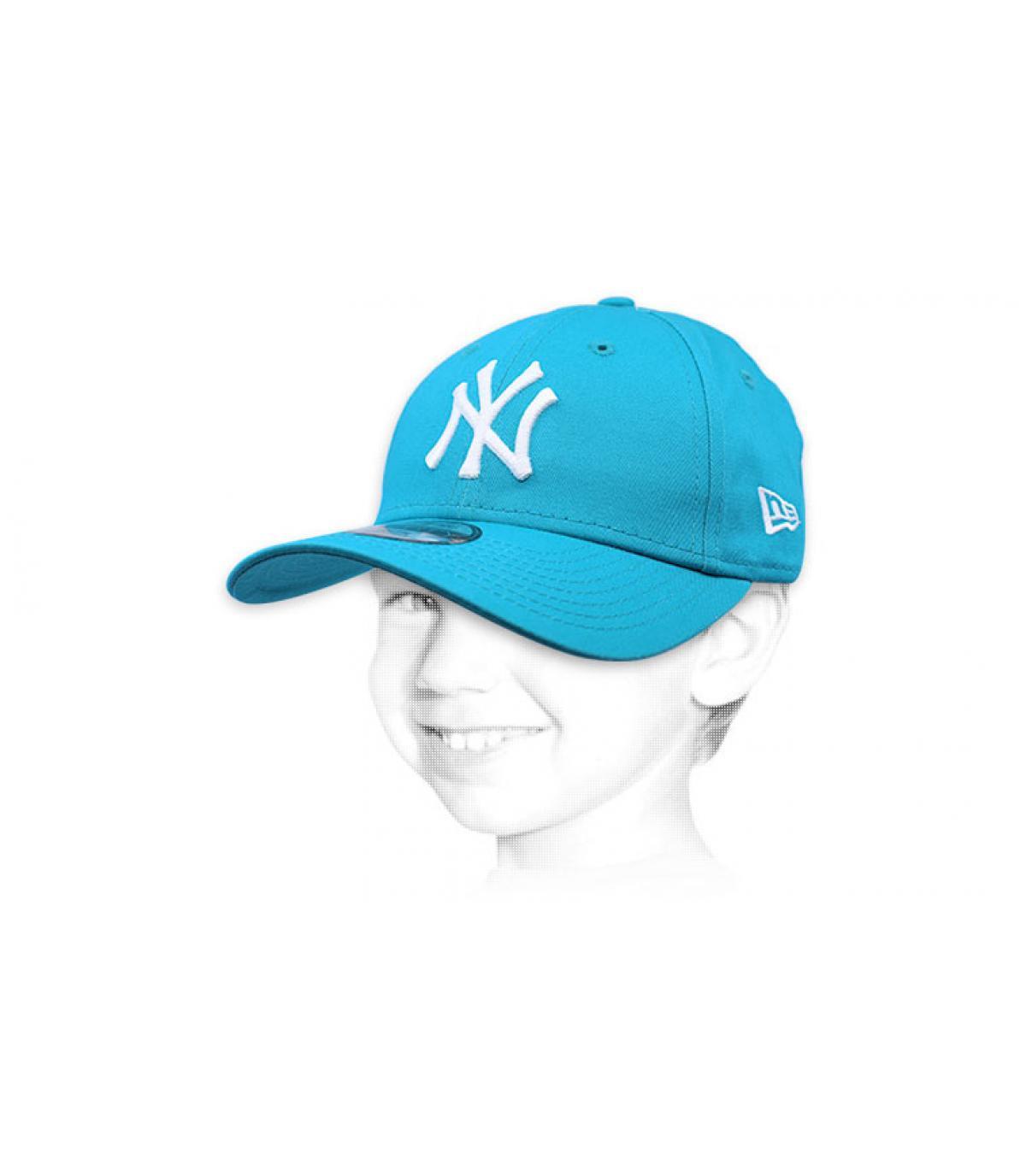 gorra niño NY azul