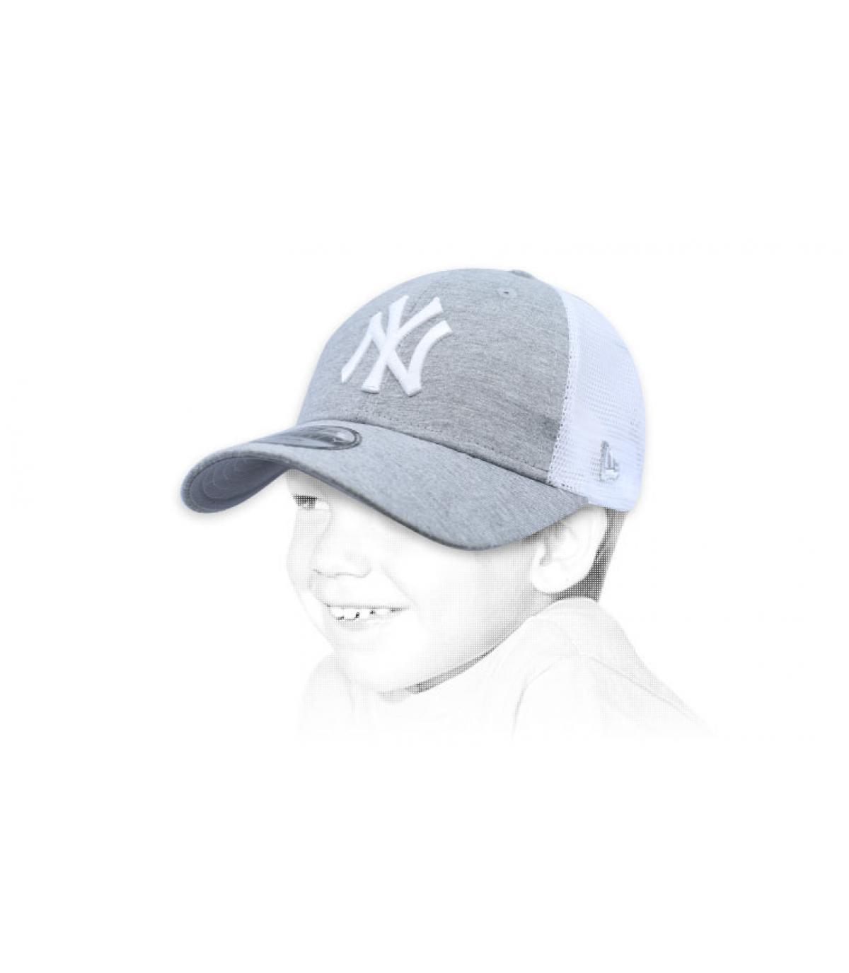 trucker NY niño gris
