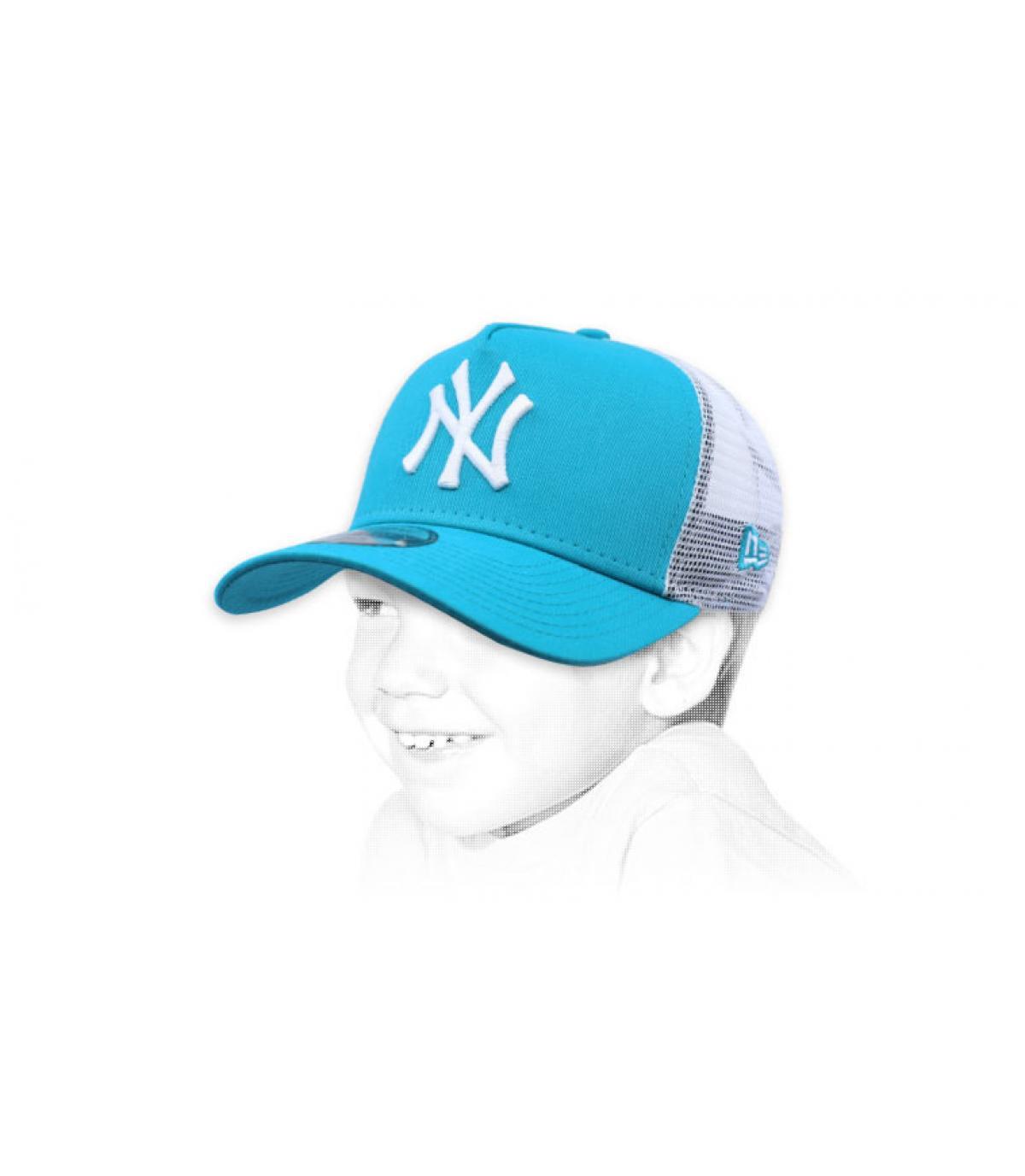 trucker NY niño azul
