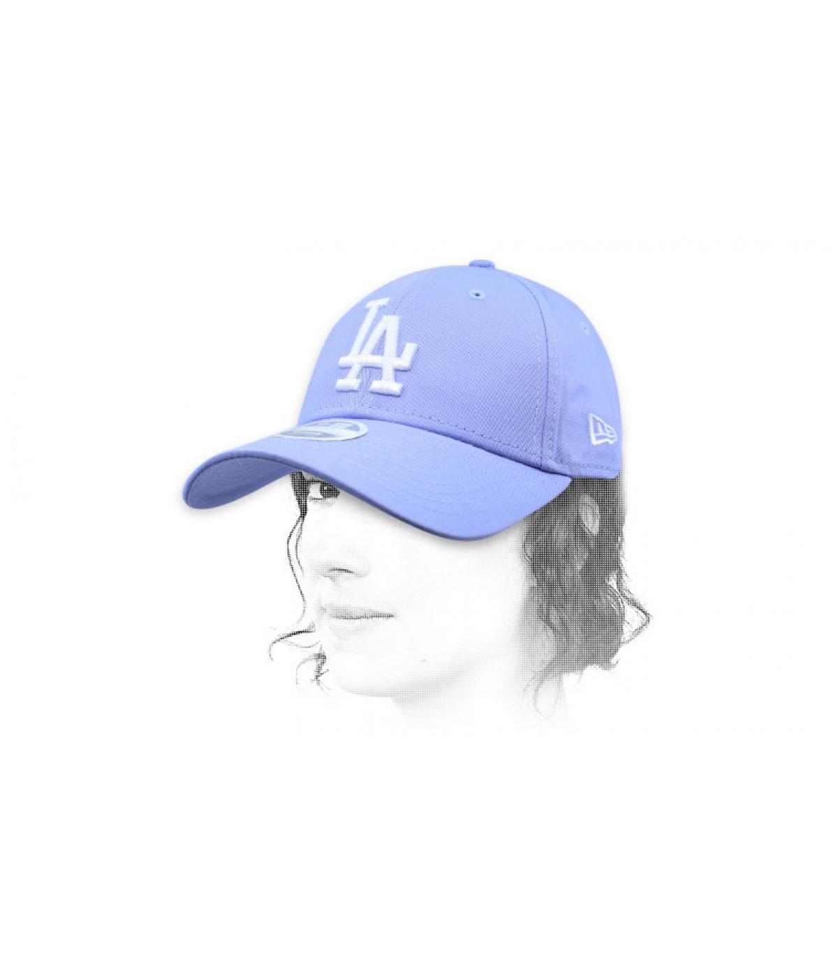gorra mujer LA azul