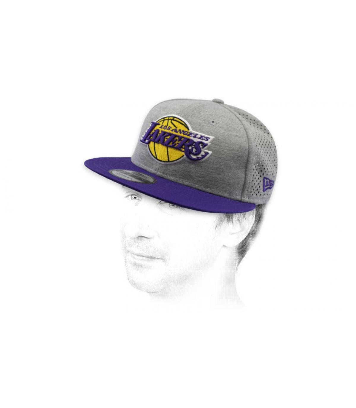 snapback Lakers gris