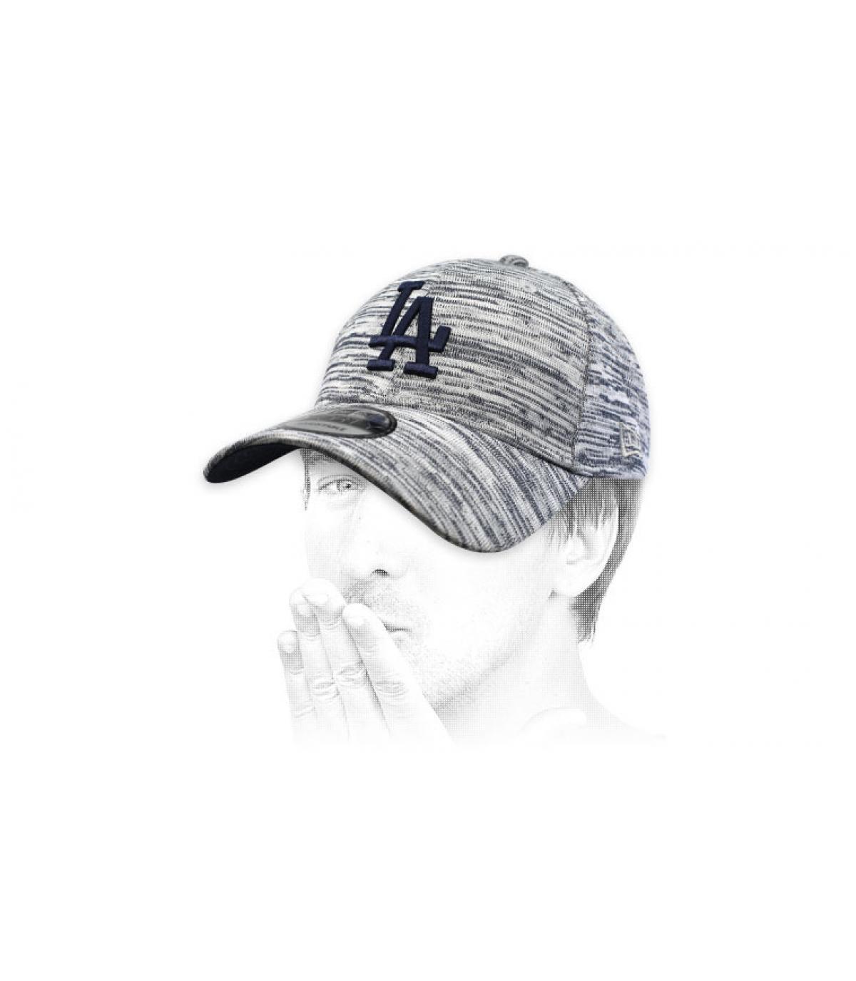 gorra LA azul jaspeado