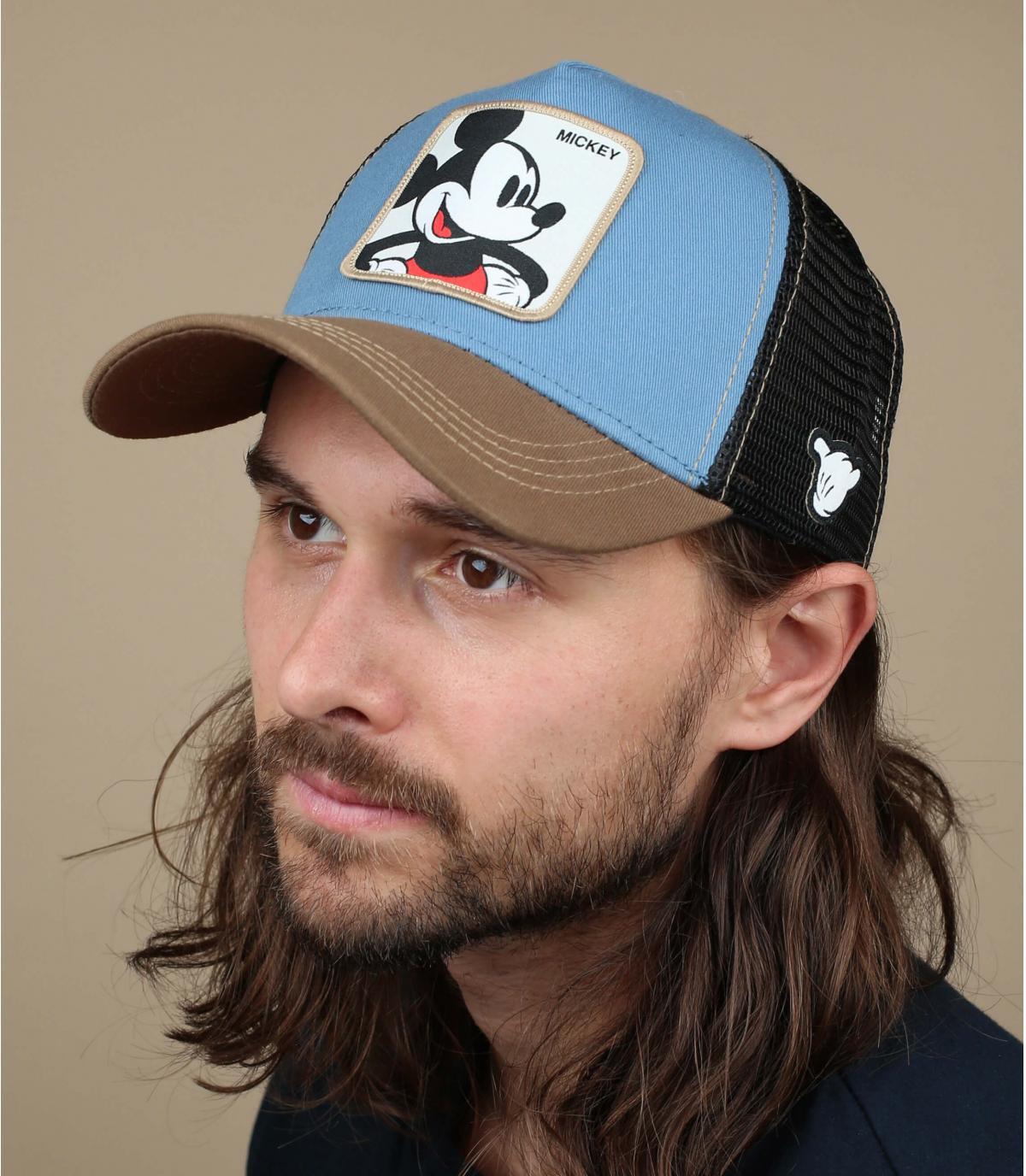 trucker Mickey azul