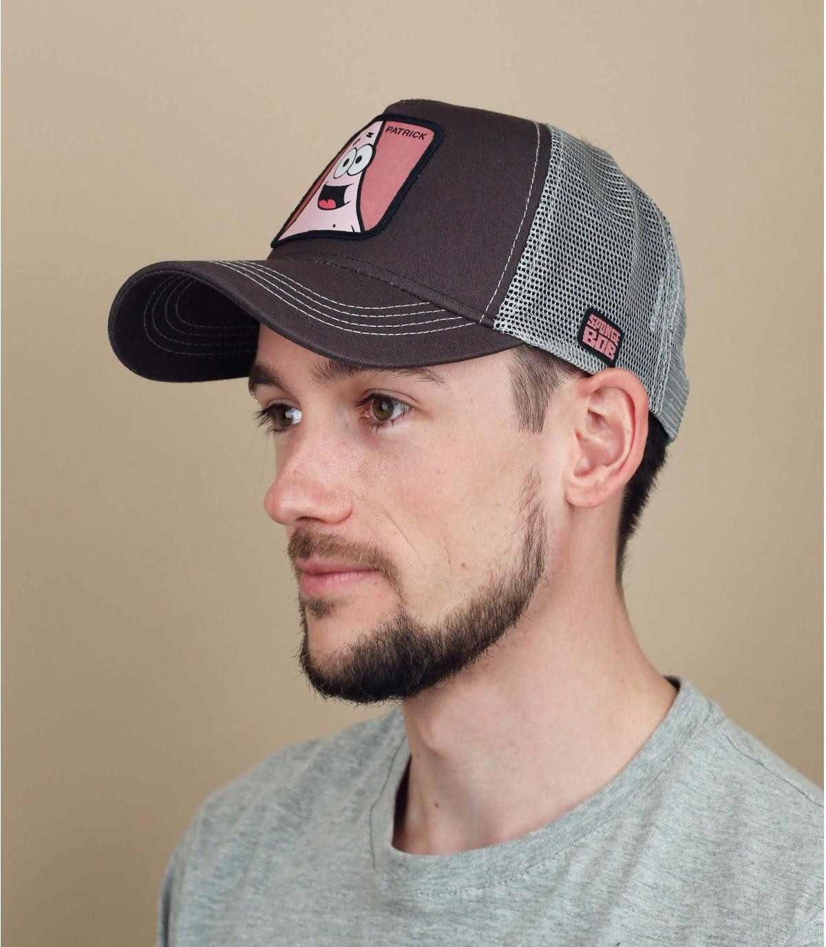 trucker Patrick gris rosa