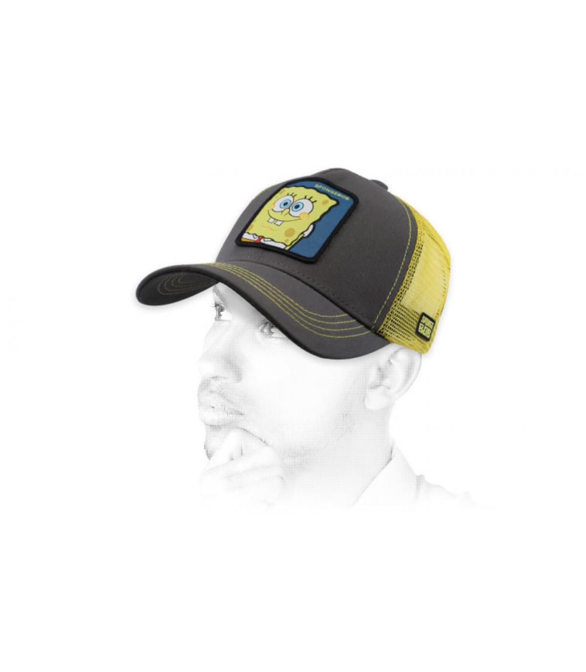 trucker Bob Esponja gris