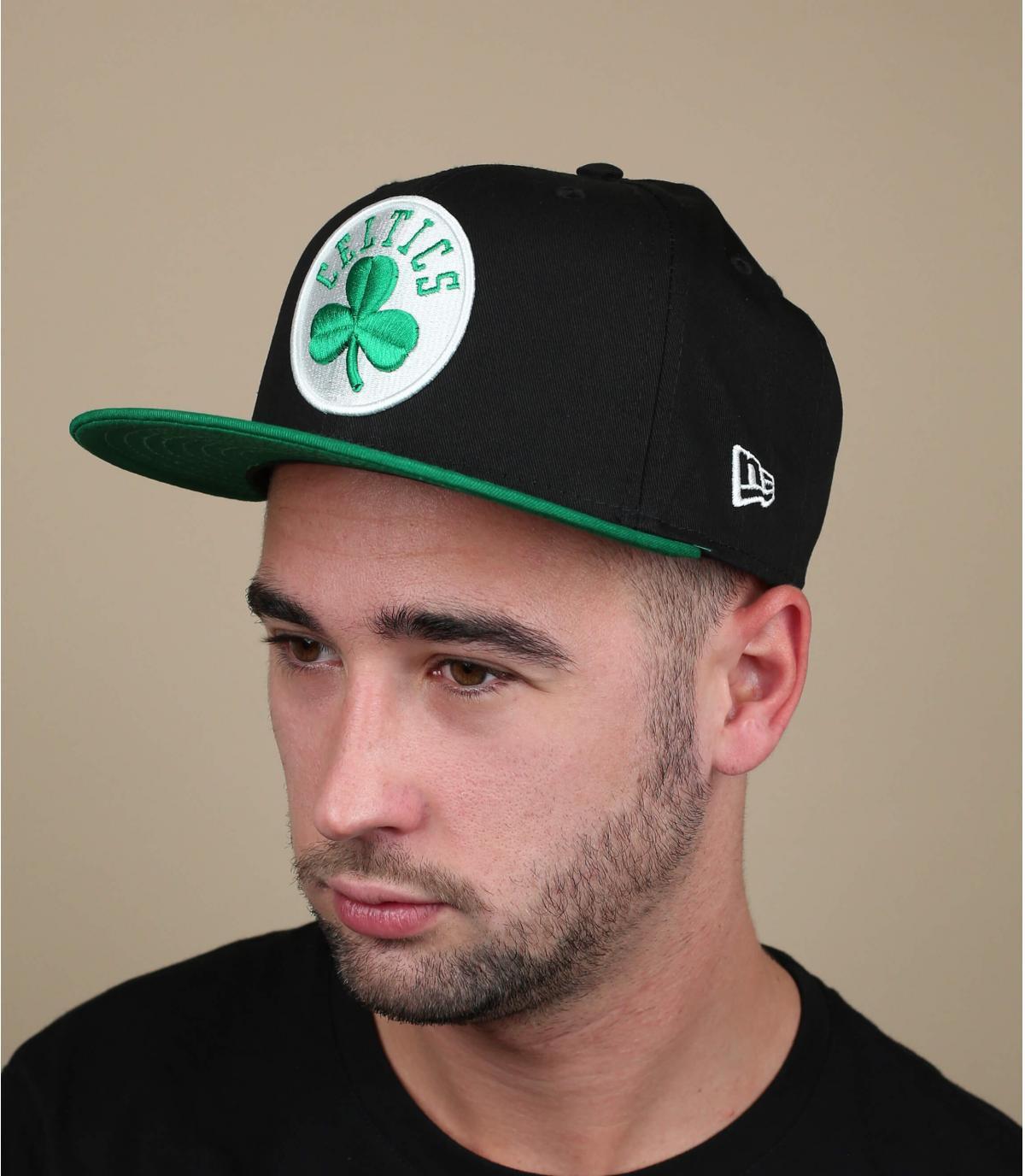 snapback Celtics negro verde