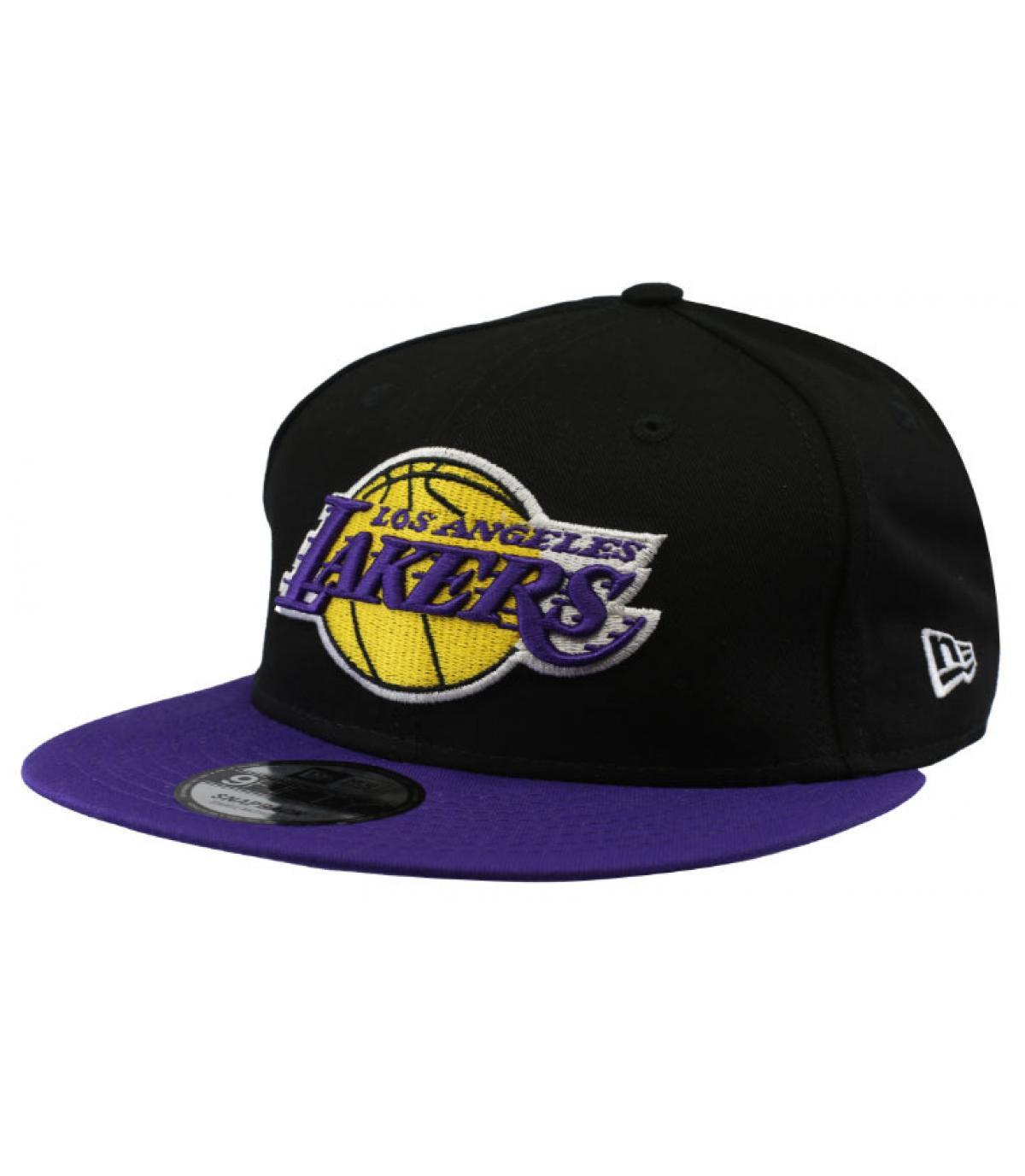 snapback negro morado Lakers