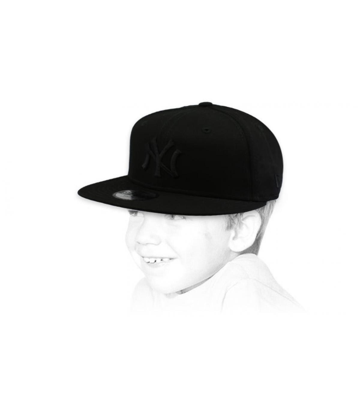 snapback niño NY negro