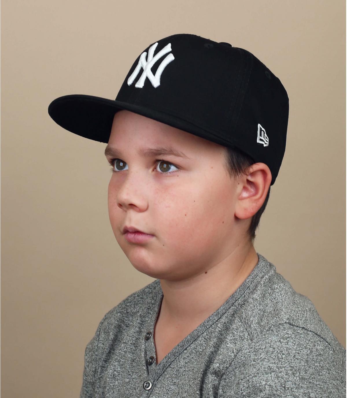 gorra niño NY negro blanco