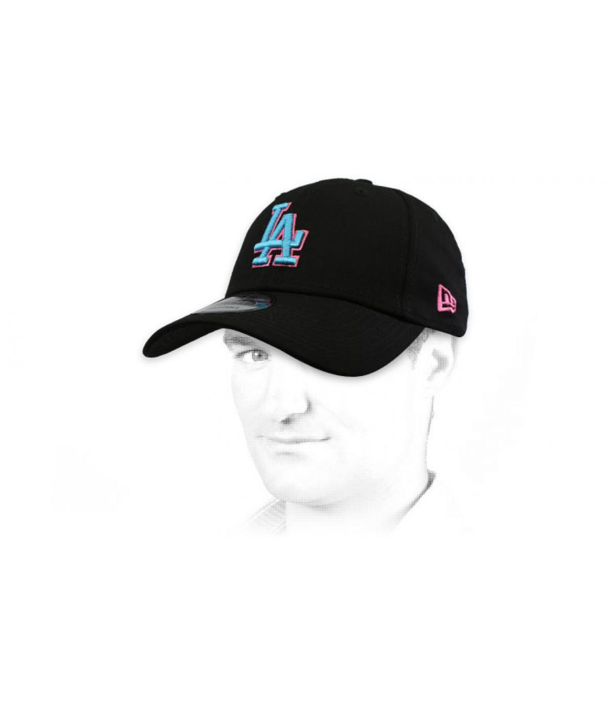 gorra LA negro azul