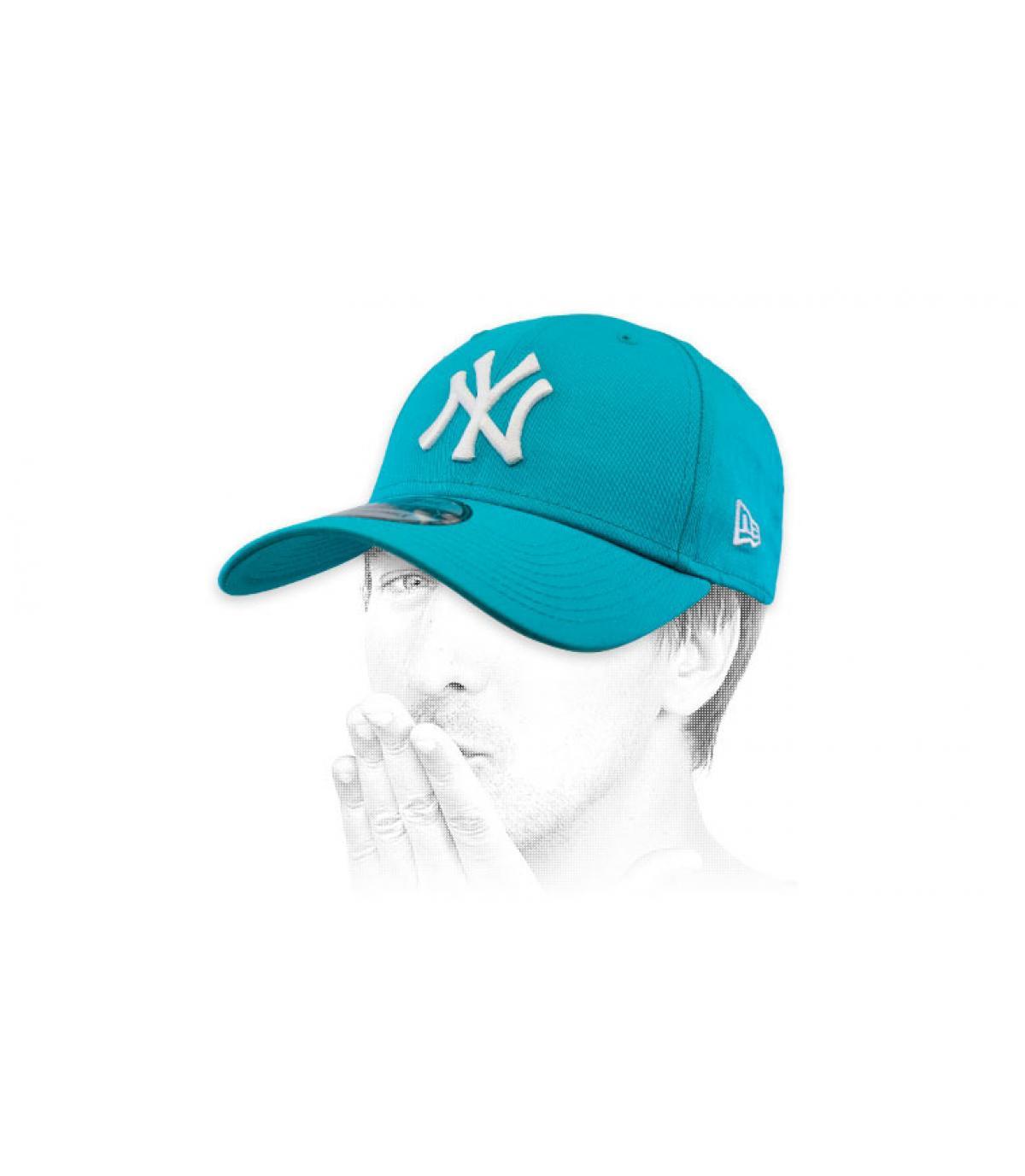 gorra NY azul blanco