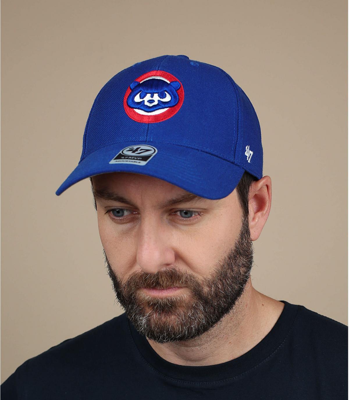 gorra Cubs azul