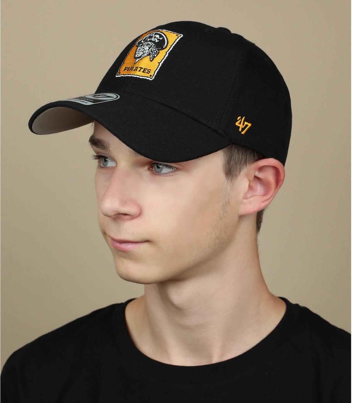 gorra pirata negro