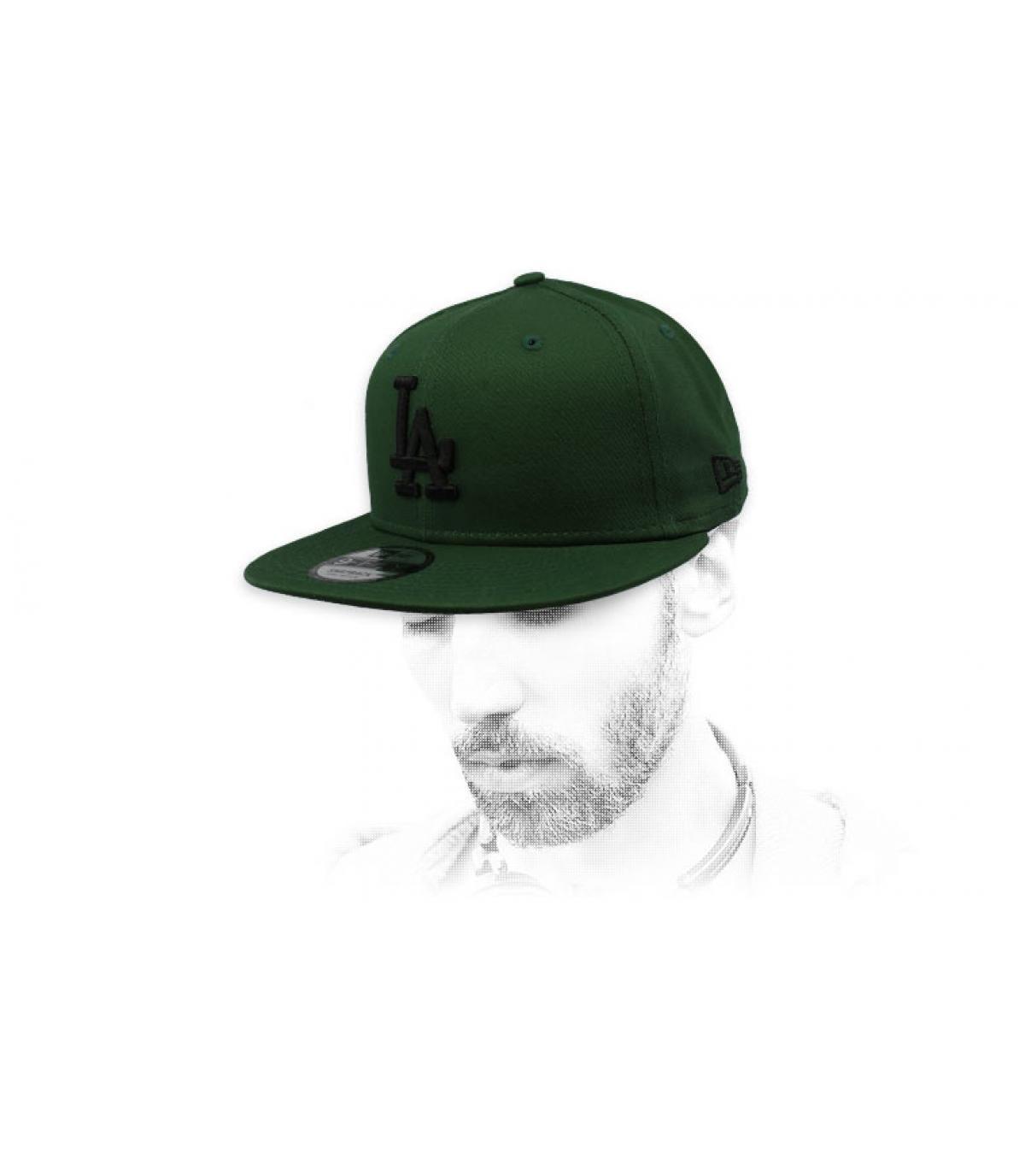 snapback LA verde negro