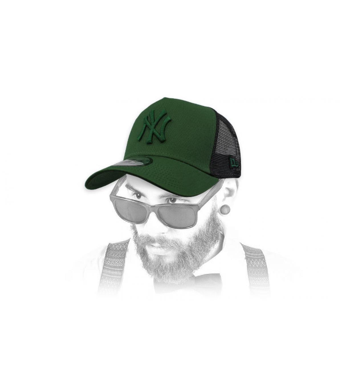 trucker NY verde negro