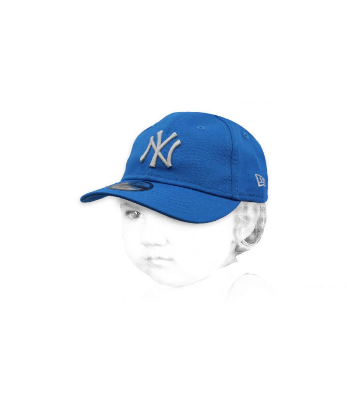gorra bebe NY azul