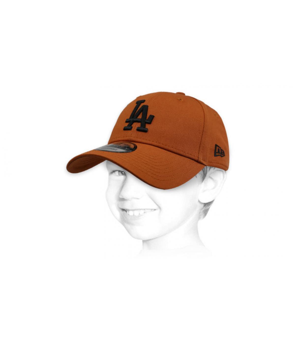 gorra LA niño marrón