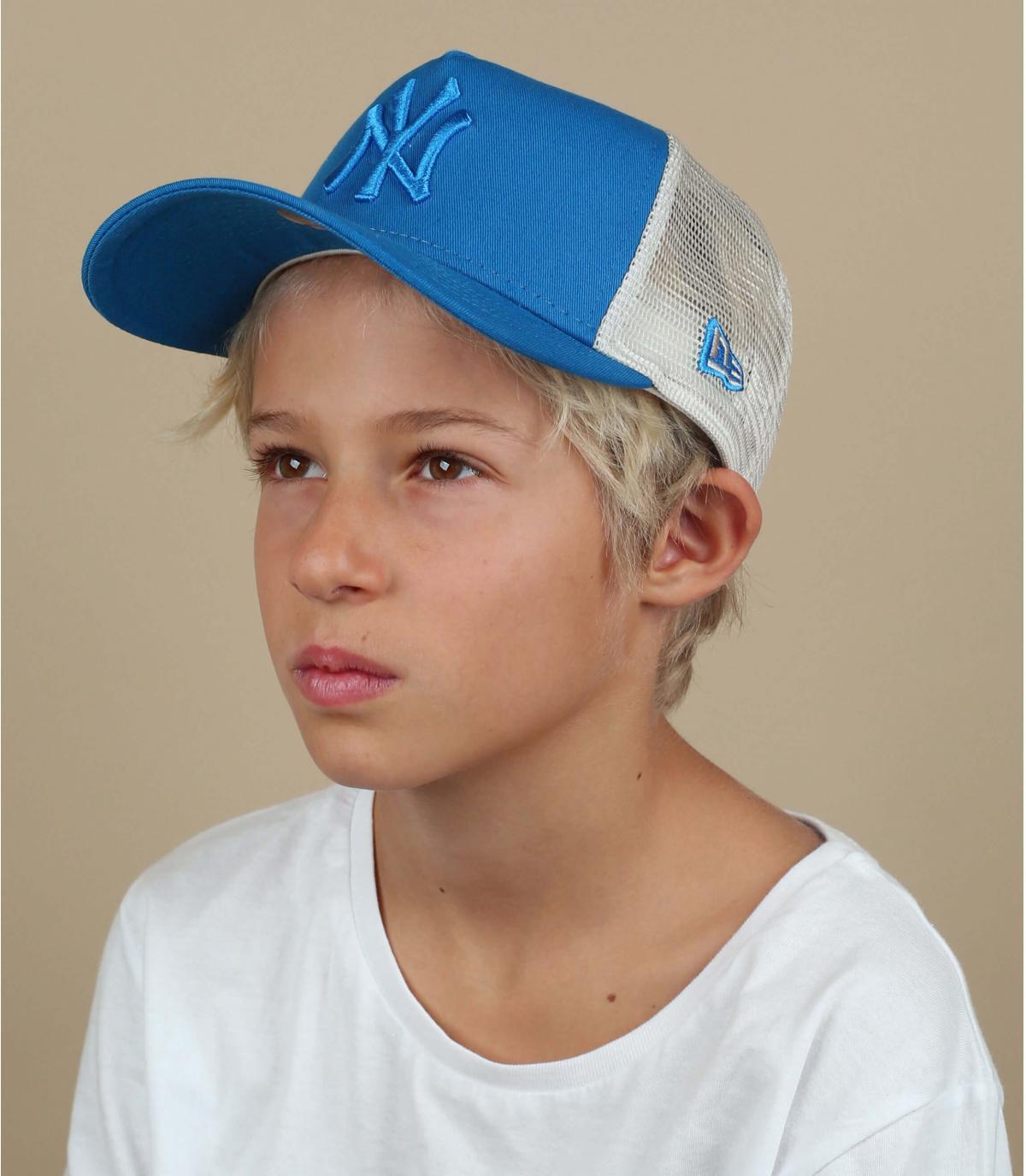 trucker niño NY azul