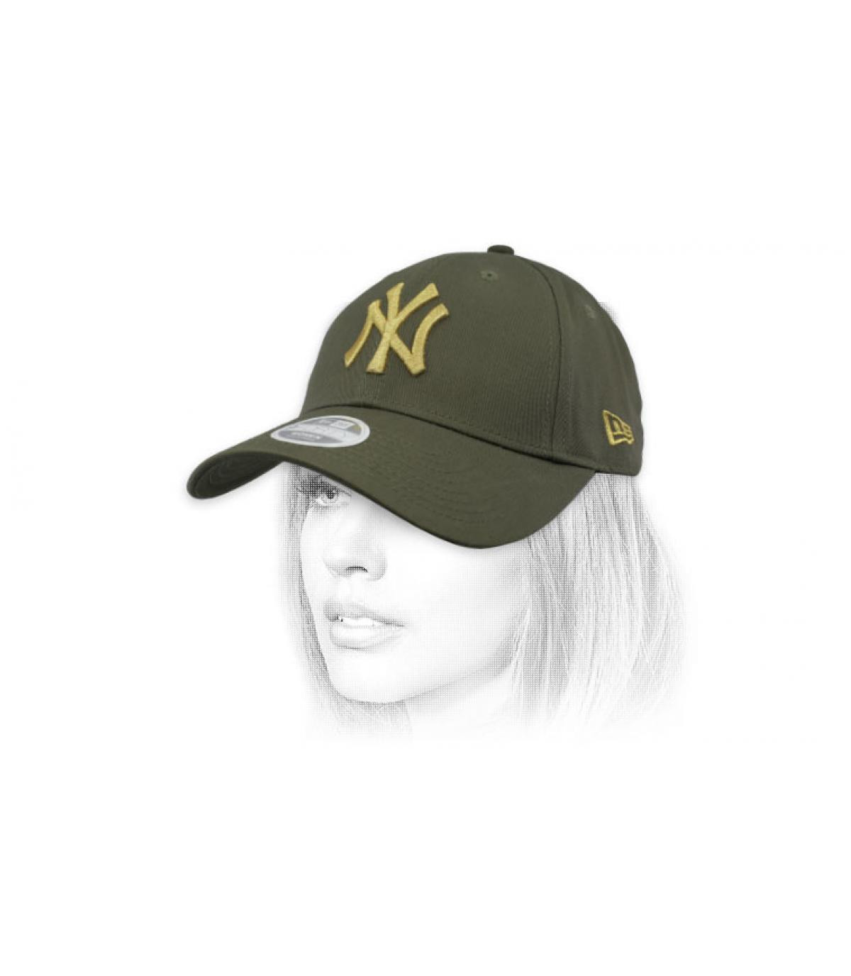 gorra niño NY verde oro