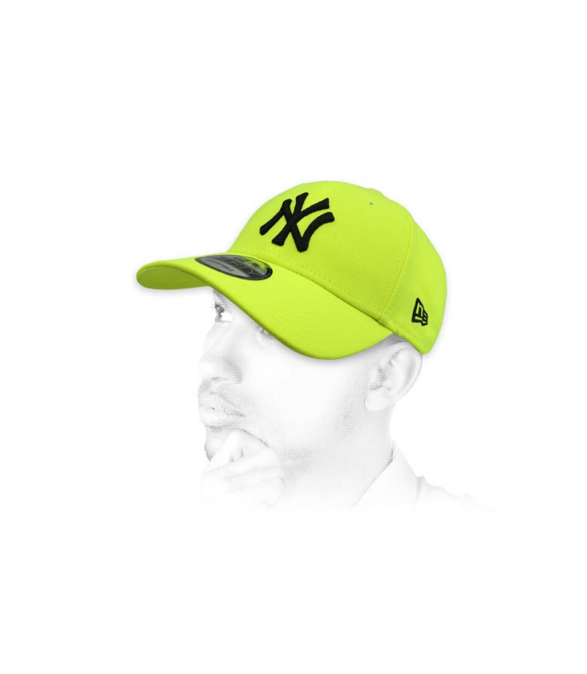 gorra NY amarillo fosforito